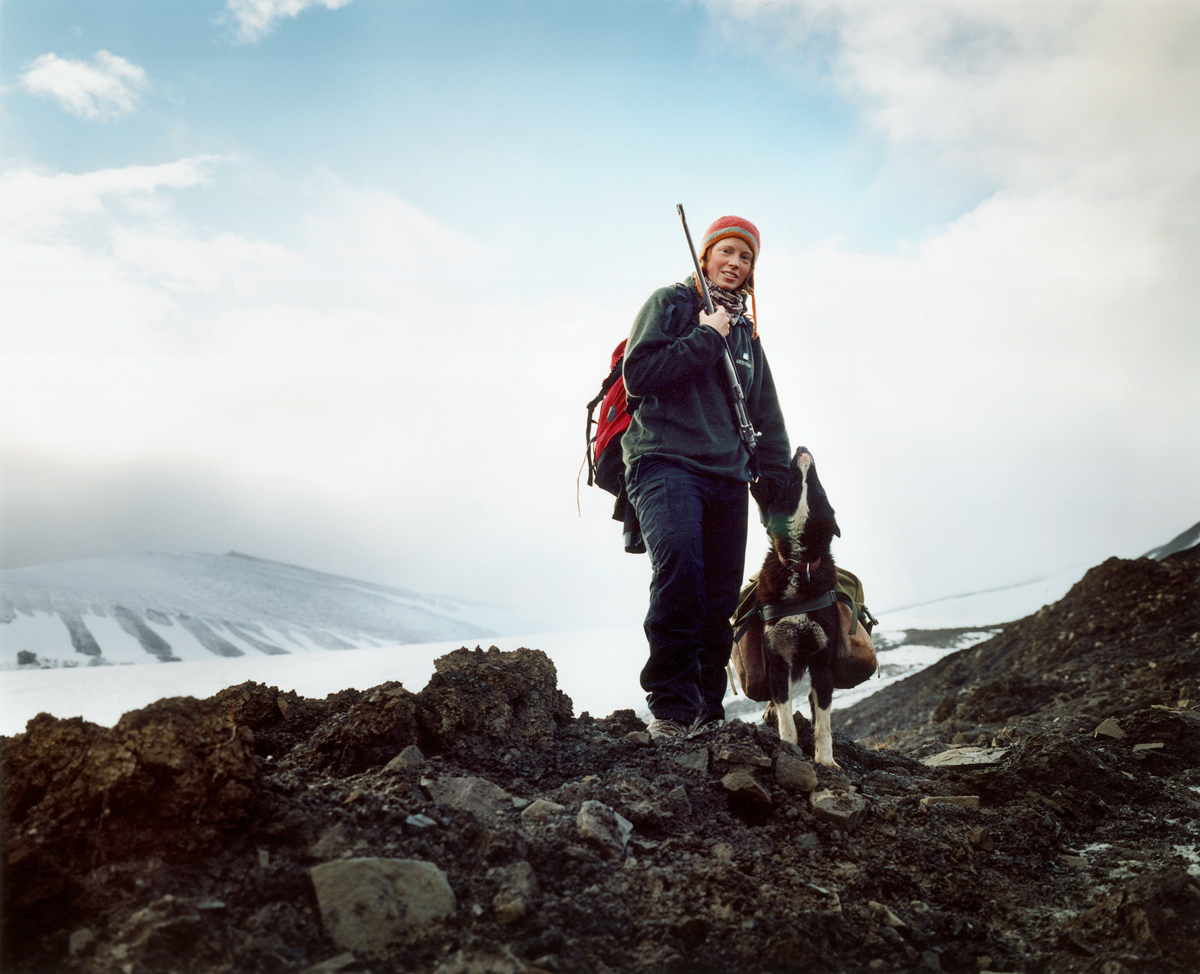 Ingebjorg and Blackie, Svalbard